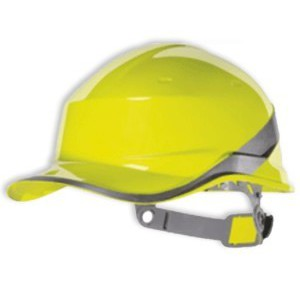 Casque de chantier jaune basebal