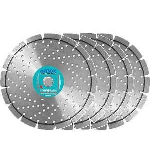 4 disques de diamant pour granit béton armé Ø 230 Pentax