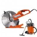 Scie à onglets électrique à disque avec Aspirateur - Usqvarna K3000