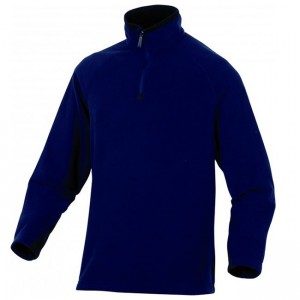 Fleece zip bleu