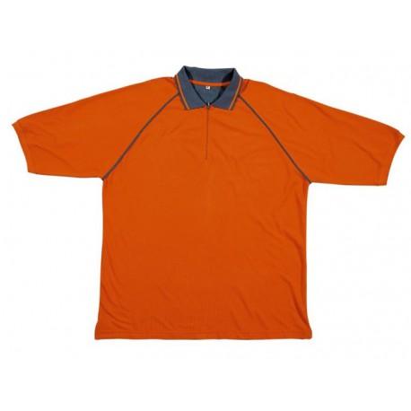 Polo pour le travail orange en coton à manches courtes Panoply