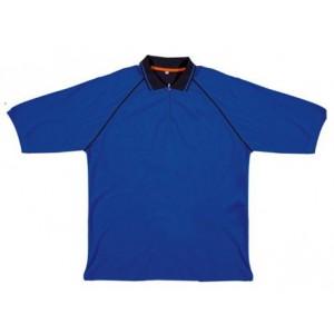 Polo pour le travail blue en coton à manches courtes Panoply