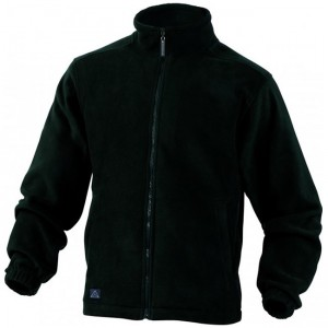 Veste noire avec Zip Fleece