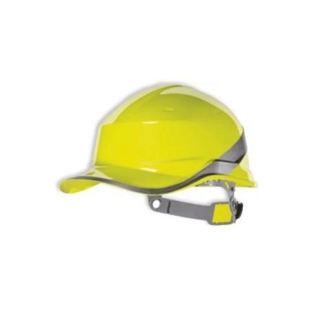 Casque de chantier jaune basebal