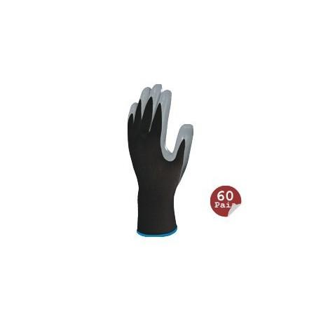 Polyester Gant tricoté / paume nitile (paquet de 60 paires)