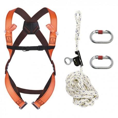 Harnais de sécurité avec corde de 20 m avec antichute coulissant