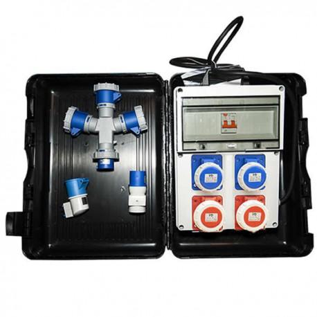 Kit panneau électrique monophasé / triphasé avec boîtier