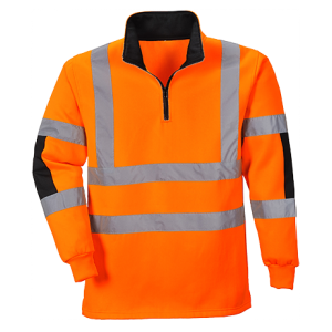 Sweat-shirt demi zip à haute visibilité Rugby Xenon