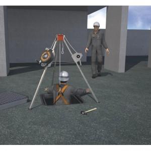 Kit de trépied à rouleaux de 20m pour confined Spaces Recovery