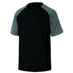 Chemise de travail en coton noir et gris
