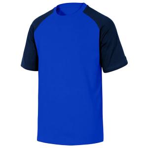 T-shirt de travail en coton bleu et noir
