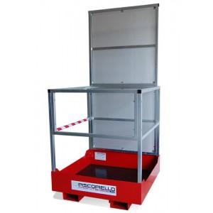 Panier de transport de personnes pour chariots élévateurs avec fourches, capacité 300 Kg